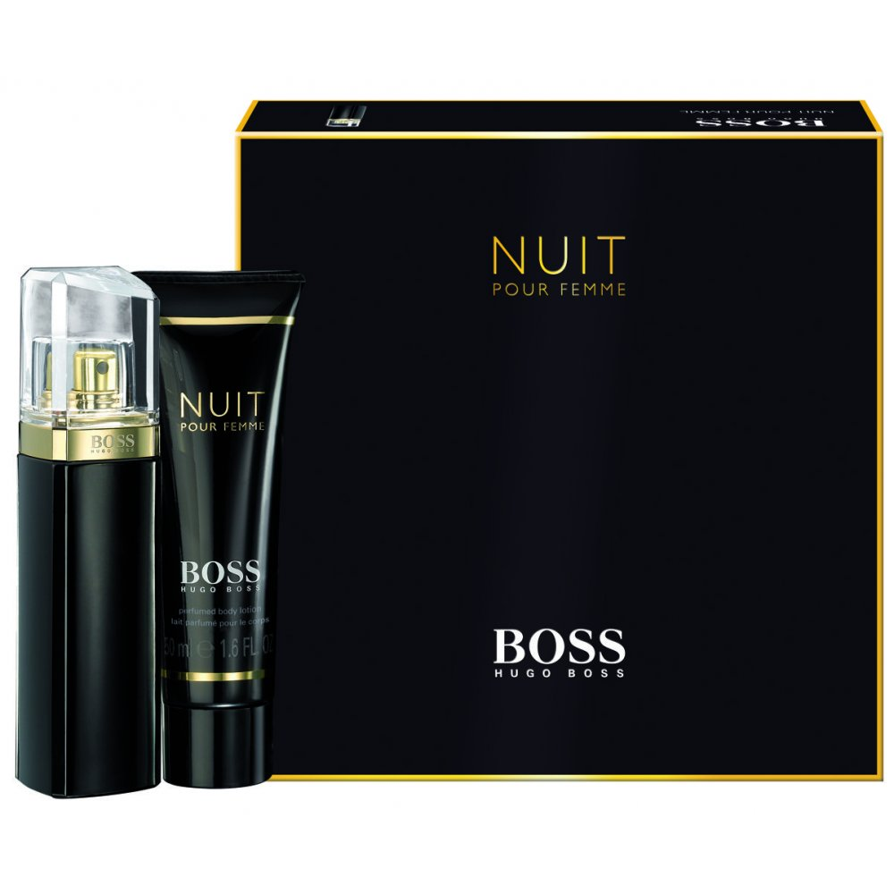 hugo boss boss nuit eau de parfum 30ml body lotion 50ml. Black Bedroom Furniture Sets. Home Design Ideas