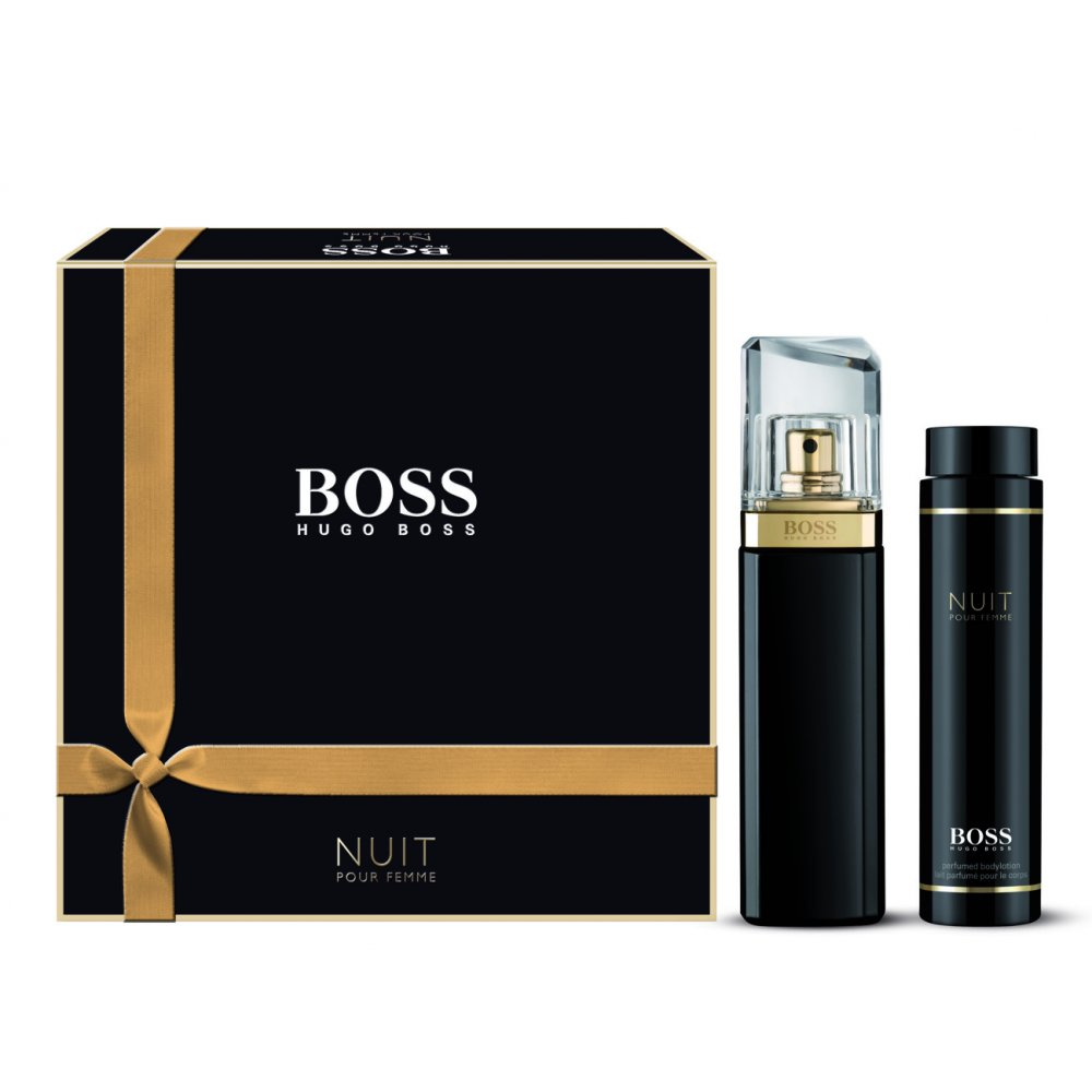 hugo boss boss nuit eau de parfum 50ml body lotion 100ml. Black Bedroom Furniture Sets. Home Design Ideas