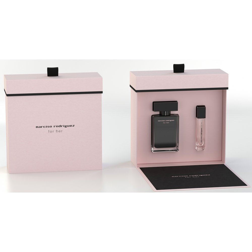 narciso rodriguez narciso rodriguez for her eau de toilette 50ml purse spray 10ml gift set. Black Bedroom Furniture Sets. Home Design Ideas