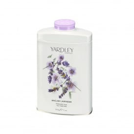 English Lavender Fragranced Talc 200g Tin