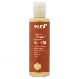 Organic Coconut Enriched Hair Oil 150ml Bottle