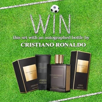 WIN 1 OF 2 CRISTIANO RONALDO SETS WITH A BOTTLE AUTOGRAPHED BY CRISTIANO RONALDO HIMSELF!!!
