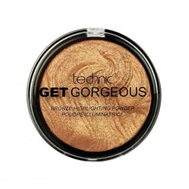 Technic Get Gorgeous 24CT Gold Highlighting Powder 12g Compact